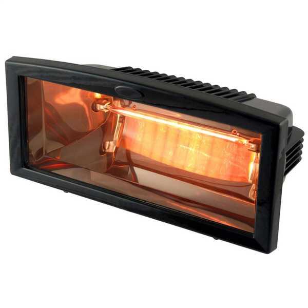 1.2kW Infrared Quartz Patio Heater Black