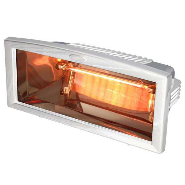 1.2kW Infrared Quartz Patio Heater White